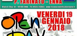 "Ritorna il consueto appuntamento dell'Open Day al Liceo Scientifico ""P. Farinato"" di Enna"