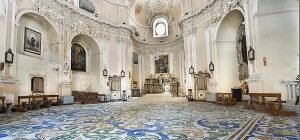 Enna: il pavimento policromo in ceramica della Chiesa di San Michele Arcangelo